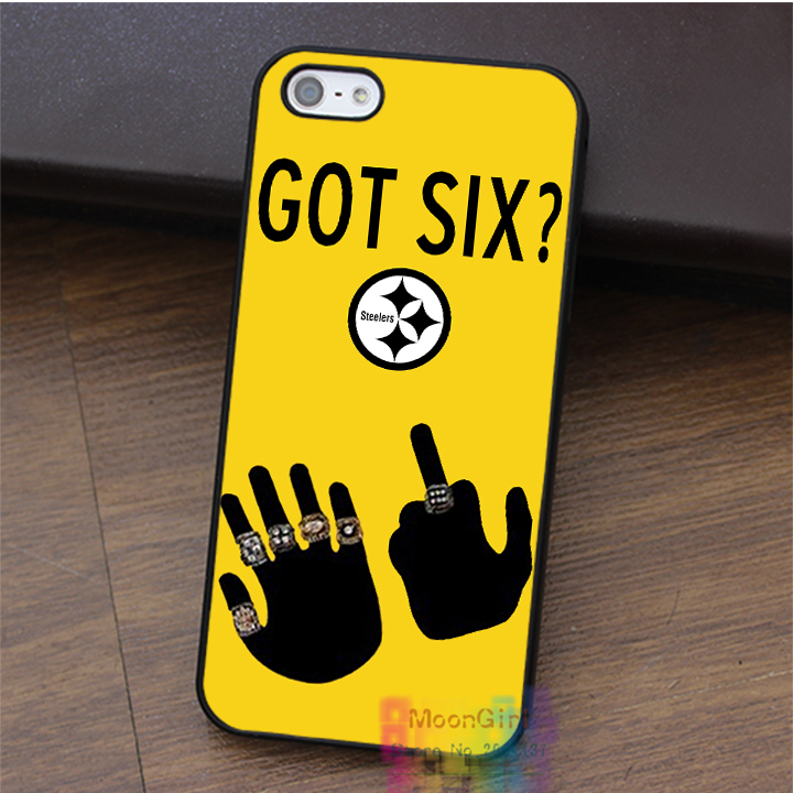 American Football Pittsburgh Steelers GOT SIX WE DO fashion cell case for iphone 4 4s 5 5s 5c SE 6 6s & 6 plus & 6s plus #LI0121(China (Mainland))