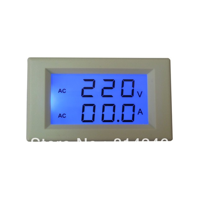 Free  shipping ,  LCD digital AC voltmeter ammeter head
