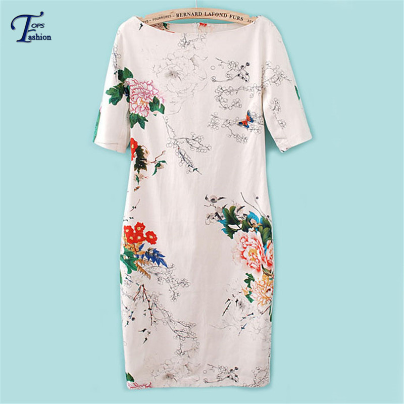 2015 Summer New Designer Cute Mini Dress Fashion Women Casual White Short Sleeve Floral Butterfly Print Dress(China (Mainland))