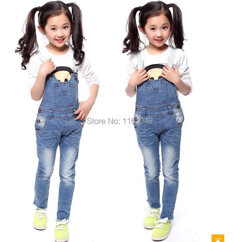 New Spring Aurumn 2016 Summer Fashion Children Kids For Girls Denim Overalls Denim Jumpsuit ...