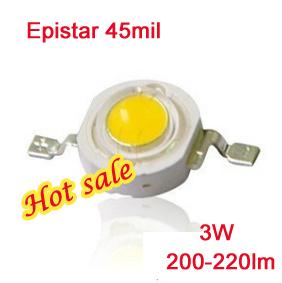 Гаджет  Epistar LED diodes 220-240lm cool warm white SMD 3W led lamp ultra bright lamp 45mil 120 degree high flux led None Электронные компоненты и материалы