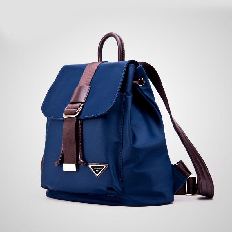 Woman Waterproof Nylon Backpacks Bags Genuine Leather Added Lady Women's Backpack mochila Female Casual Sports Travel Bags(China (Mainland))