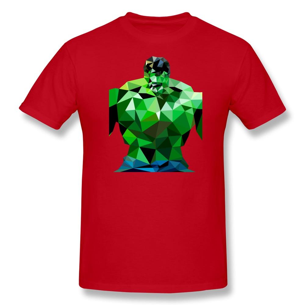 Unique design o neck t shirt men polygon heroes hulk for Men s dobby shirt