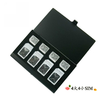 100X Sim micro sim portable card case card holders, 8 in 1(China (Mainland))