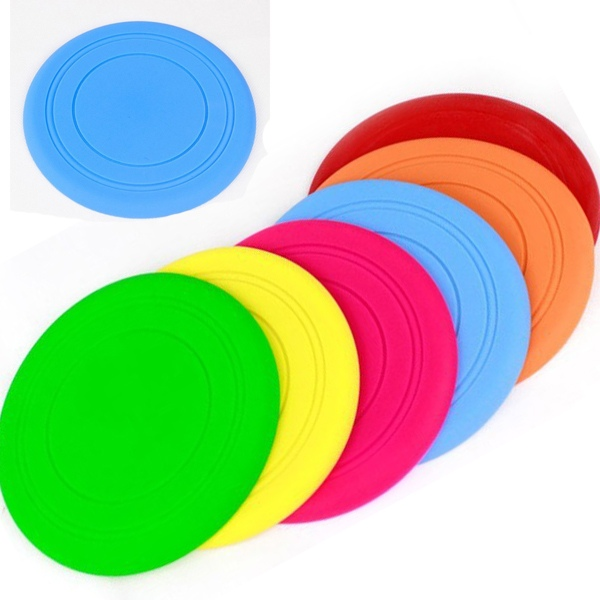 1PC Pet Dog Supplies Colorful Foldable Durable Pet Dog Bites Rubber Flying Frisbee Fetch Chewing Toy Interactive For Large(China (Mainland))