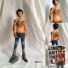 Good PVC Anime Death Surgeon King of Artist the Trafalgar Law Action Figure One Piece Model Toy Collections Gift 26cm KB0596
