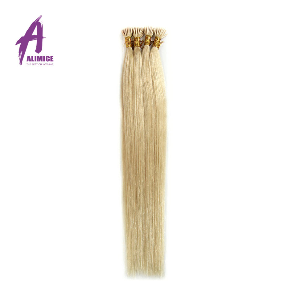 Keratin I Tip Brazilian Hair 0.5 Gram/Strand Pre bonded I Tip Fusion Human Hair Extension 18