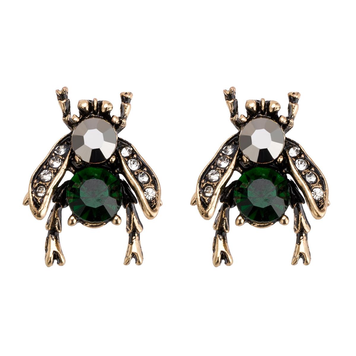 Новая мода Личность пчелы Кристаллические Серьги Симпатичные Сплав заявление 2