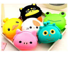 Animals Girls Silicone small mini Coin Bag mini Coin Purse change wallet purse women key wallet coin Wallet Children Kids Gifts(China (Mainland))