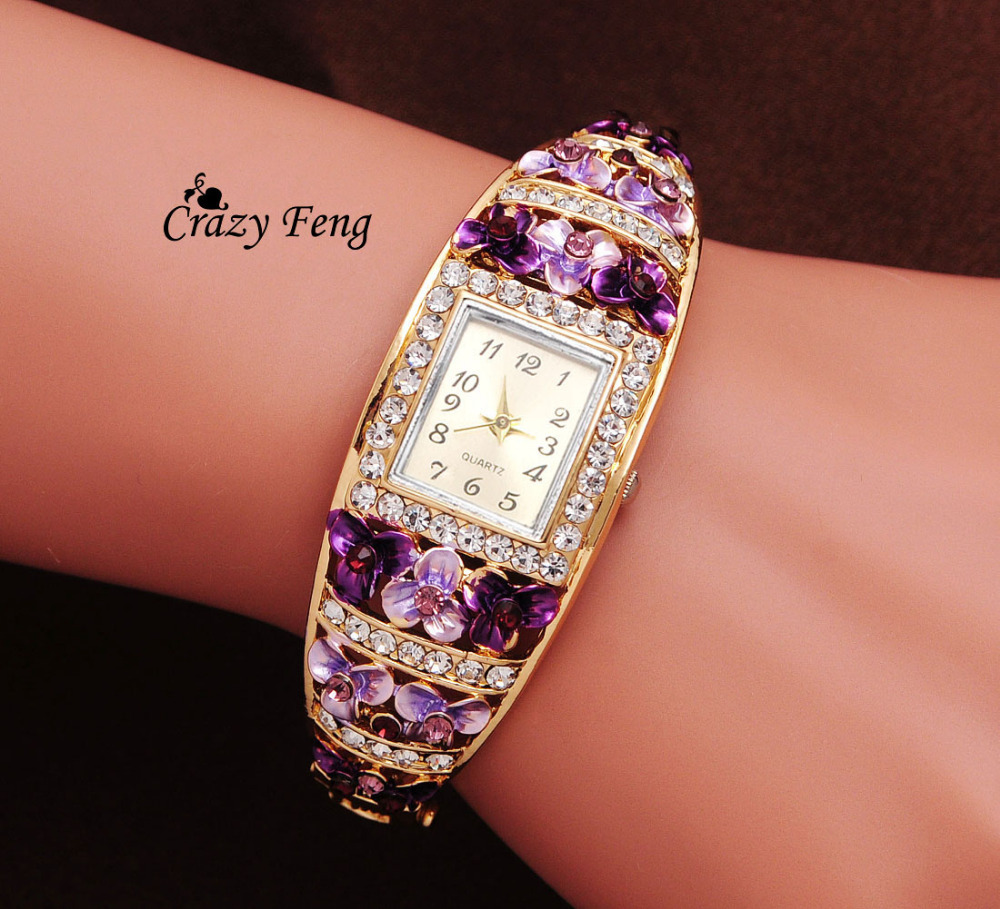 GENEVA Quartz Watch Watches For Women Wristwatch 18K Gold Filled Crystal Gift For Girl 2015 New Arrival Noble Free Shipping<br><br>Aliexpress