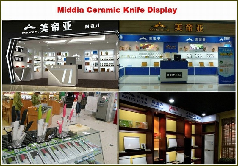 Buy Mirror blade ceramic Cleaver knife kitchen knives in 5 inch good at vegetable meat cutting cheap