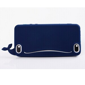 Fashion Cute Cartoon Whale Silicon Phone Case with Open Mouth for Iphone 6 4.7 inch Cell phone Bag Dirt-resistabt for iPhone 6(China (Mainland))