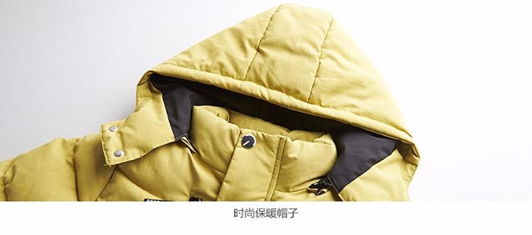 Скидки на 2016 зима детская одежда мальчиков Zhongda толстый слой теплый ватник сплошной цвет обычные модели