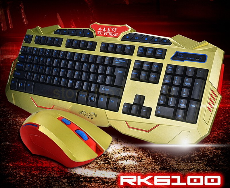 1Set/lot wireless waterproof USB Professional Gaming PC notebook computer office for Dota2 LOL keyboard mouse lol CF<br><br>Aliexpress