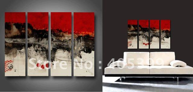 Beautiful Modern Oil Painting ,100% Handmade Modern  Oil Painting on Canvas -group 50