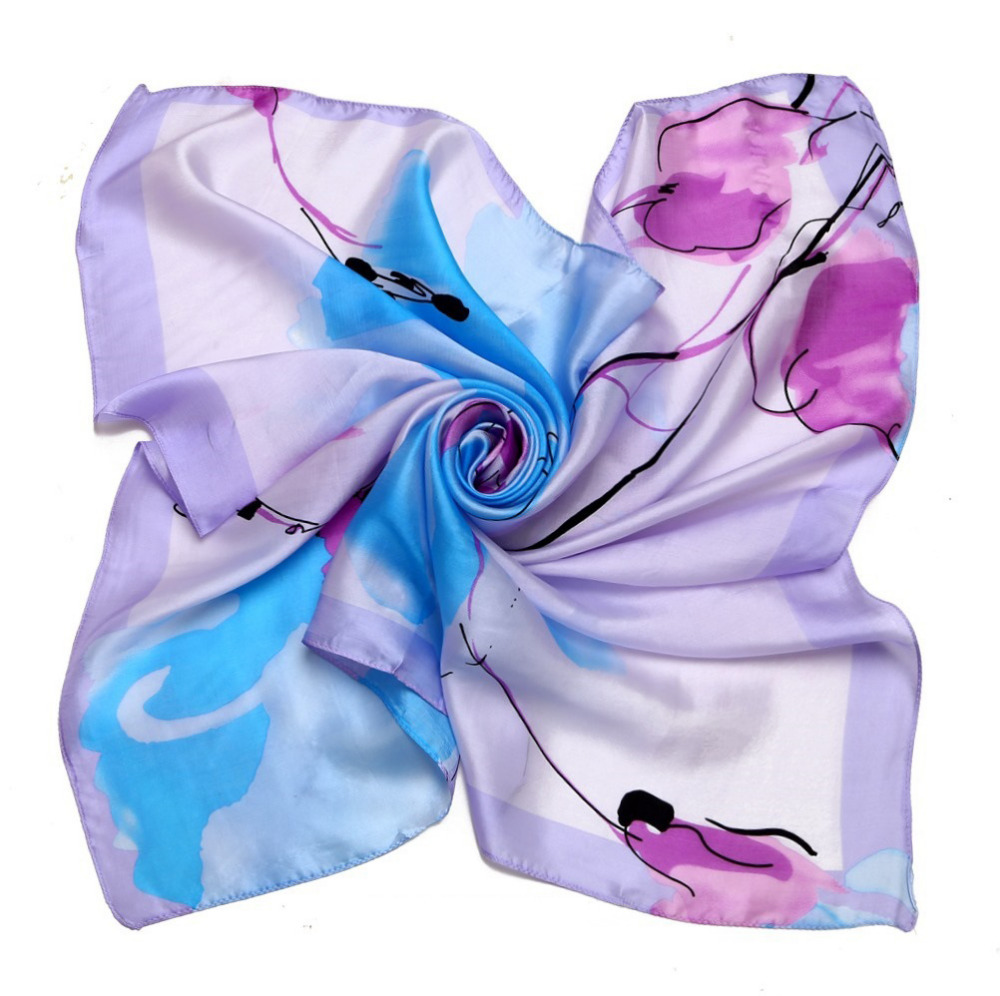 [LESIDA]Delicately Printed Casual Mint Scarf,Real 100% Silk Scarf Women,Fashion Soft And Comfortable Tippet,Wrap/DF9120(China (Mainland))