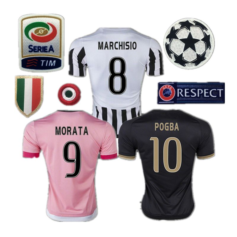 2015 2016 Juventusizeres soccer jerseys survetement football Marchisio maillot de foot 15/16 POGBA shirt Dybala Morata jersey(China (Mainland))