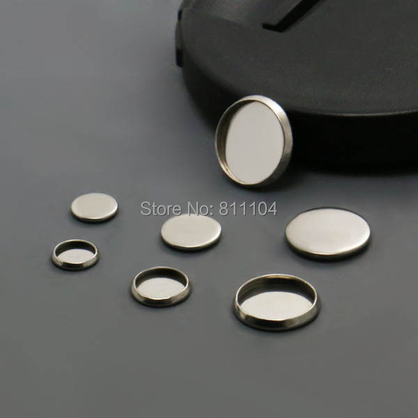 Blank Stainless Steel Bases Round Bezel tray Cabochon Settings Pendant Connectors Findings for Floating Charm Lockets Making(China (Mainland))