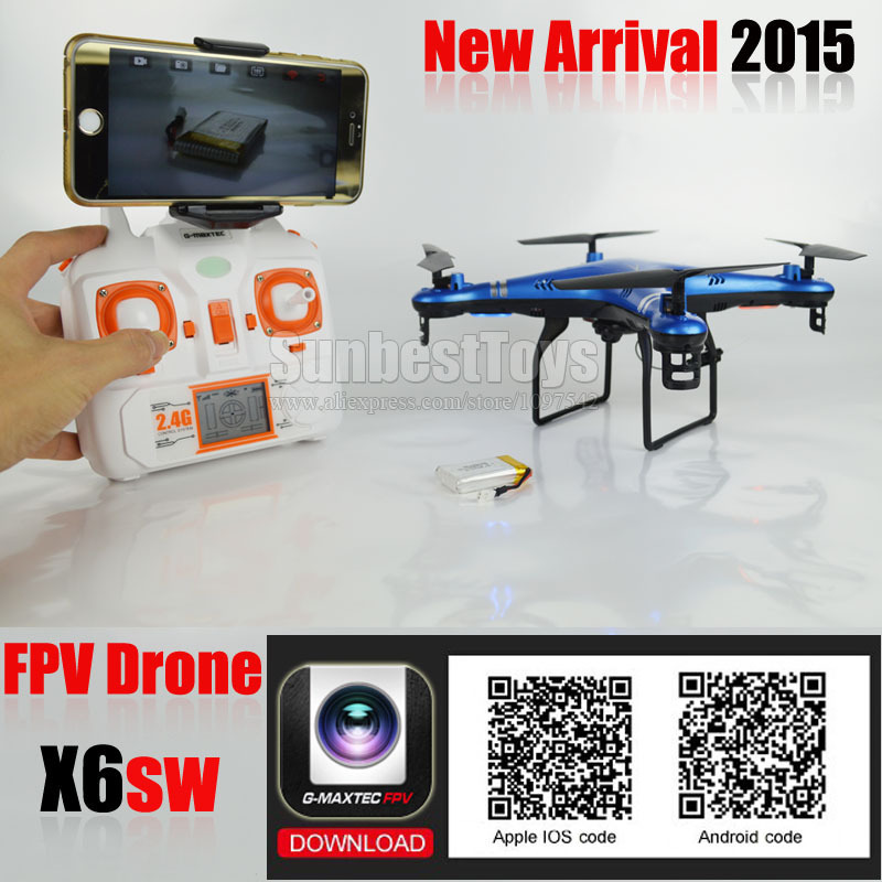 X6SW Real-Time Transmission Quadcopter IOS/Android WiFi FPV Drone with 2Megapixel HD Camera vs X5SW,X300,X600 Live Video UFO(China (Mainland))