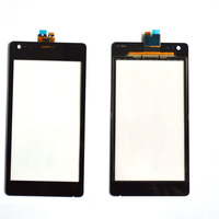 Black for Sony for Xperia M C1904 C1905 C2004 C2005 Touch Screen with Digitizer replacement ,free shipping!!