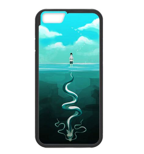 """Good Gift Hot Anime Spirited Away Dragon In Water Plastic Case For iPhone6 4.7"""" (Laser Technology)(China (Mainland))"""