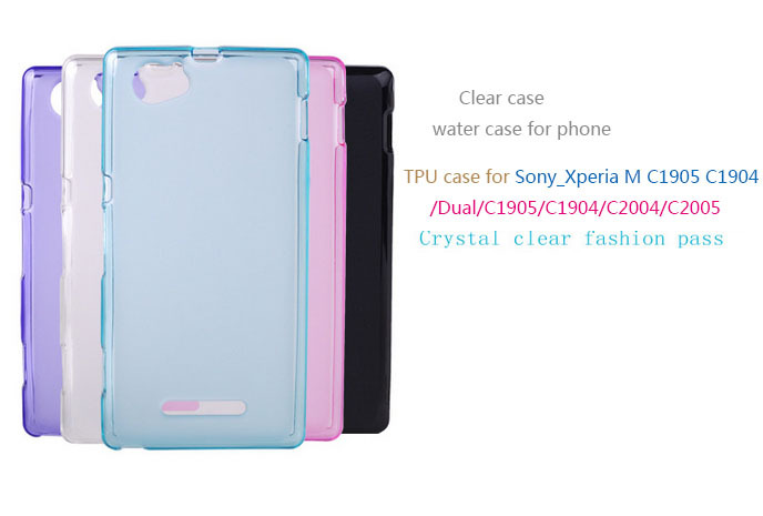 silicone tpu case Sony Xperia M /Dual/C1905/C1904/C2004/C2005 phone Clear soft Sony_Xperia m silica gel cover - Shenzhen Zomi Technology Co., Ltd. store