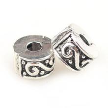 New Alloy Bead Charm European Wave Clips Locks Safety Stopper Beads Fit Women Pandora Bracelet & Bangle DIY Jewelry YW15200