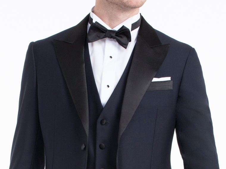 4 Piece Suits Jecket+Pants+ Vest+Tie Navy Blue Men Groom Tuxedos Wedding New Arrived 2015 M029 - TOP-SUITS store