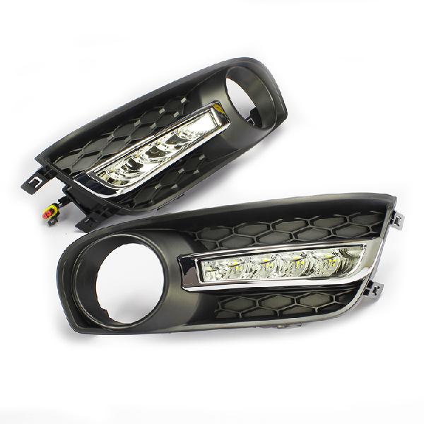 Free shipping,LED Daytime Running Light for New Nissan Tiida ,LED Daytime lamp,DRL,LED FOG LAMP function modification with less(China (Mainland))