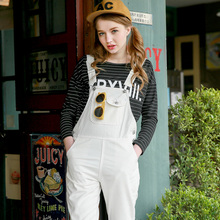 2016 Womens American Apparel Jeans Ladies Baggy Denim Damen Jeans Full Length Pinafore Dungaree Overall Jumpsuit Jeans Women