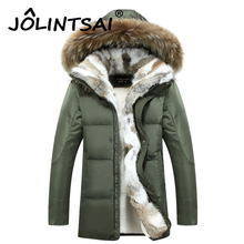 Men's Down Jacket 2016 New Winter Cashmere Wool Hooded Jacket Rabbit Fur Thicken Warm High Quality Clothes Coats For Lovers 5XL(China (Mainland))