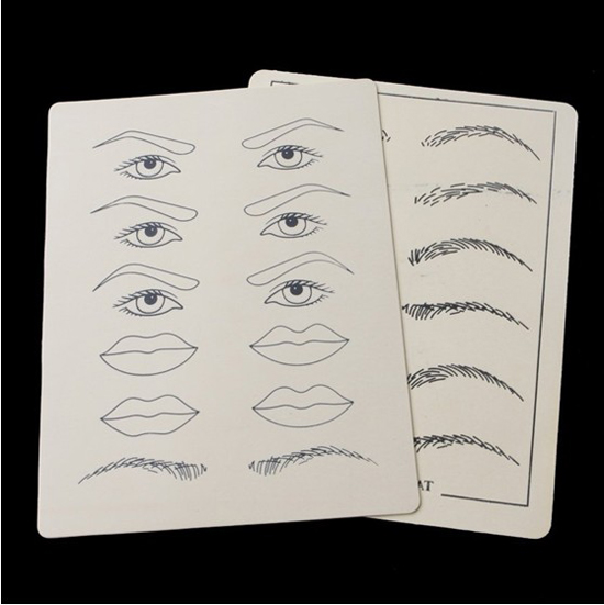 10pcs Permanent Makeup Practice Skin for eyebrow lips 8 inch x 6 inch Cosmetic Tattoo Practice Fake Skin Supply For Beginners <br><br>Aliexpress