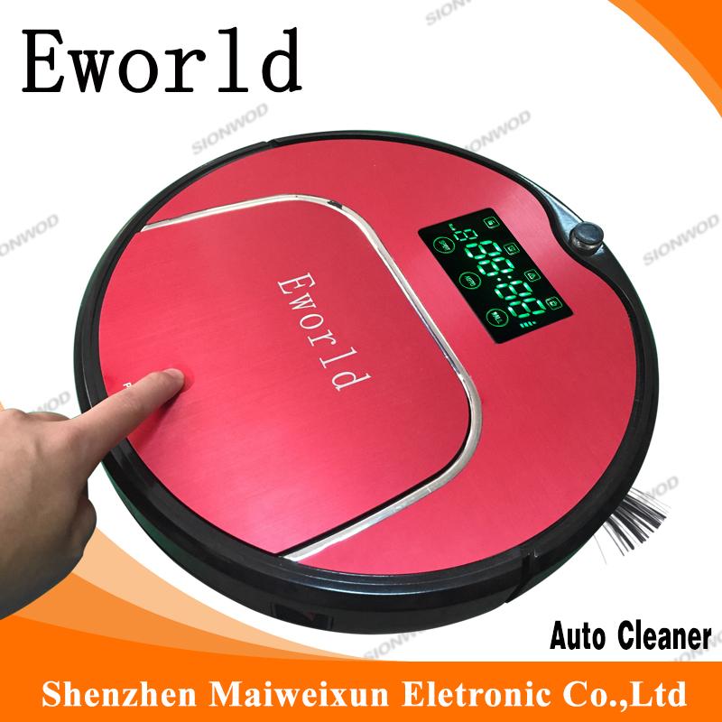 Eworld M883 Intelligent Robot Vacuum Cleaner with Big Garbage Box, Big Mop,Anti-Fall Sensor for Home(China (Mainland))