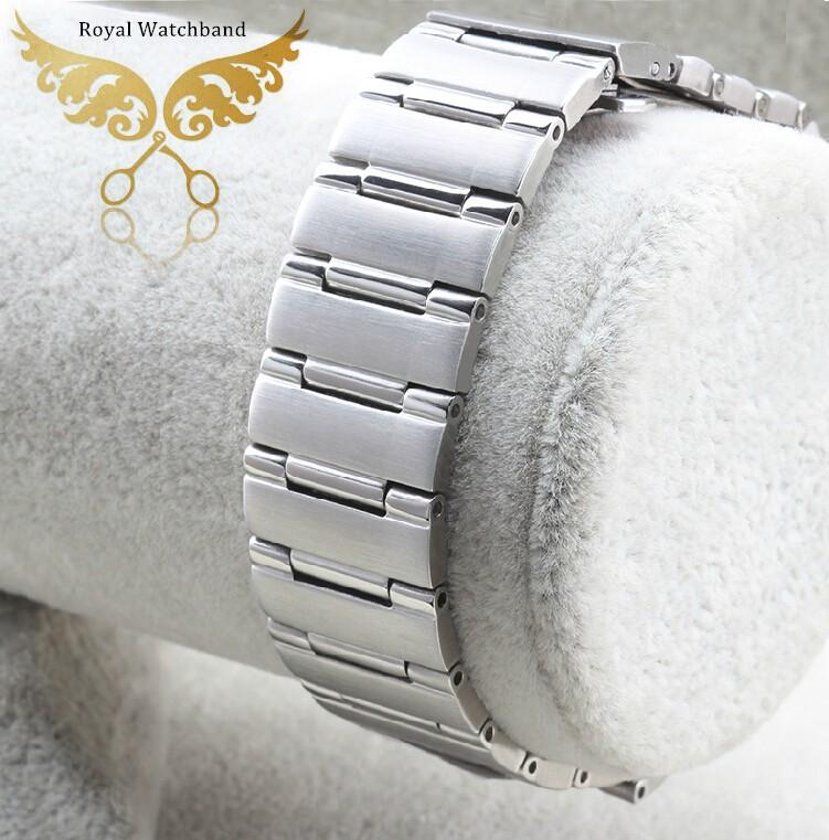 22 мм * 14 мм серебро мужчины стиль новый высокое качество полированной нержавеющей стали часы ремешок браслет Depolyment стали застежка