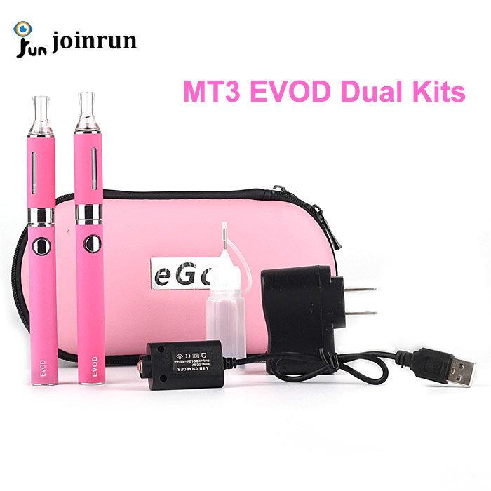 Гаджет  Double MT3 EVOD Zipper Case electronic Cigarette kit Rechargable e-cig kits EVOD Battery + MT3 Atomizer Clearomizer E Cigarette None Бытовая электроника