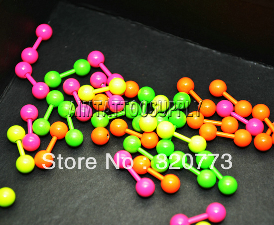 Straight 316L Barbell 16G piercing Ear Ring mixed colour - SUE WANG Tattoo supplies store