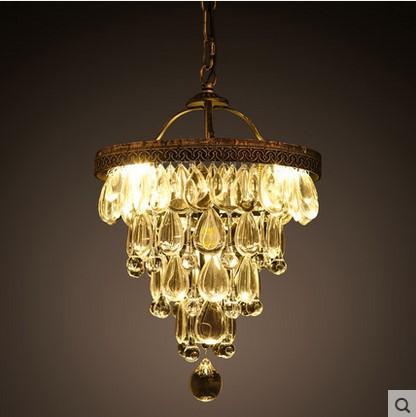 Luminaire LED Vintage Crystal Pendant Light With 4 Lights Indoor Lighting,Lustre Cristal Sala Teto<br><br>Aliexpress