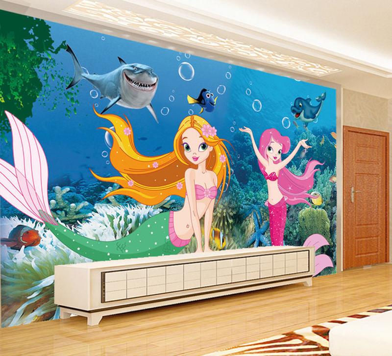 Buy children custom wallpaper wallpaper for Cartoon mural wallpaper