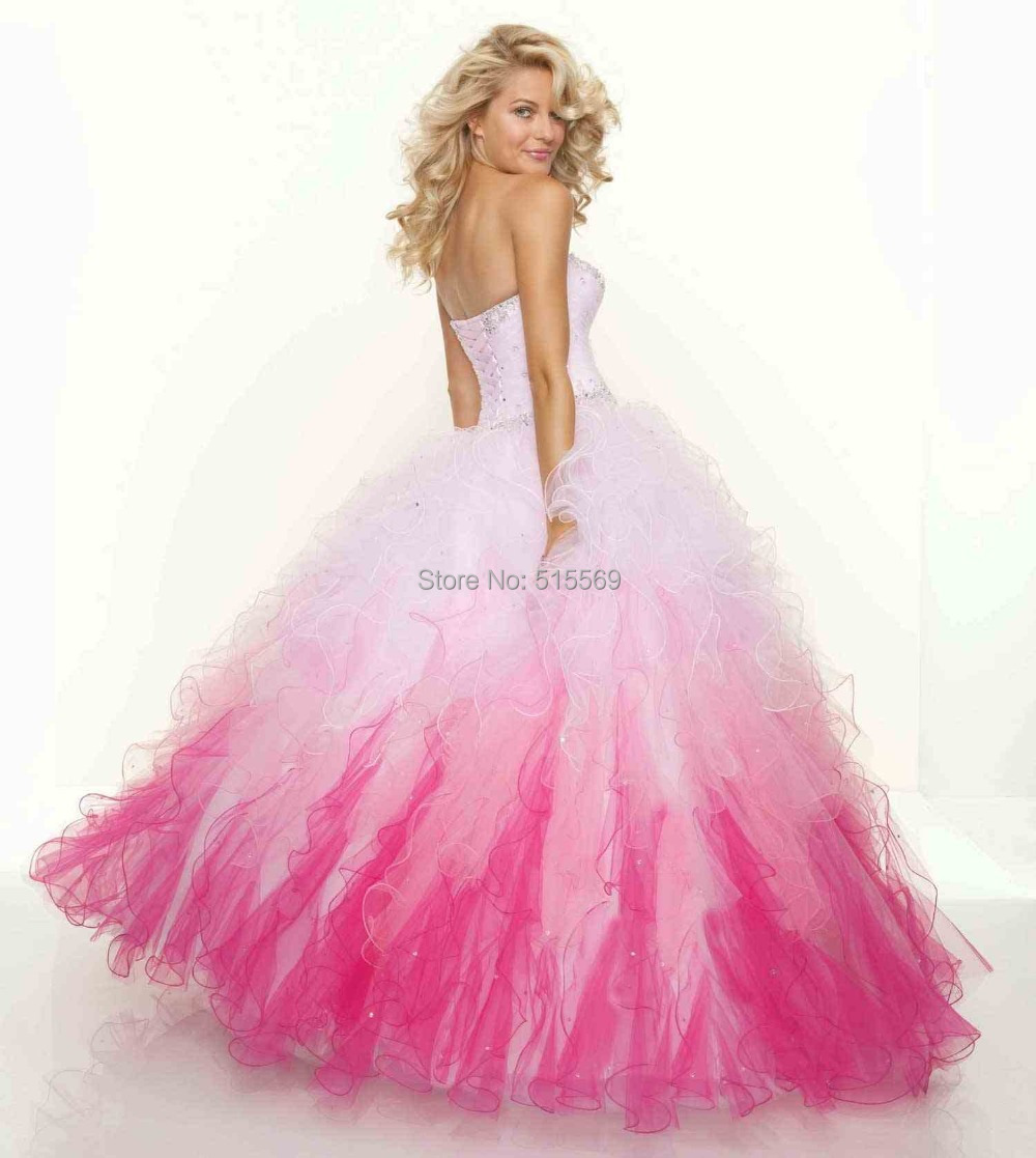 White Cinderella Prom Dresses