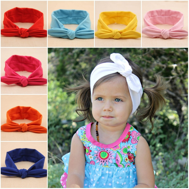 Free shipping, 10 pcs/lot baby tie knot headwrap top knot baby headband Little Girl Hair Accessories(China (Mainland))