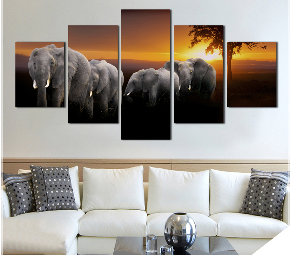 Online buy wholesale canvas print home decor wall art animals from ...
