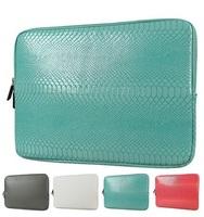 Hot Snake Skin Leather Sleeve Case 12,13,14,15,15.6 inch Laptop Bag 13.3