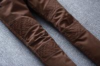 Бальзам * в бутике байкер джинсы Мужская тонкий тонкий джинсы стрейч мужской коричневые брюки