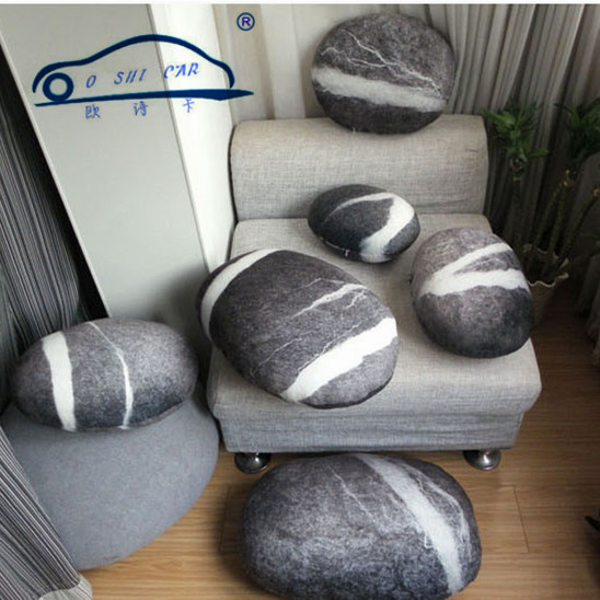 Outdoor Cushion Living Stones Pillow Colorful Country Road Pebble Case of Pillow Floor Case of Cushion Room Decors(China (Mainland))