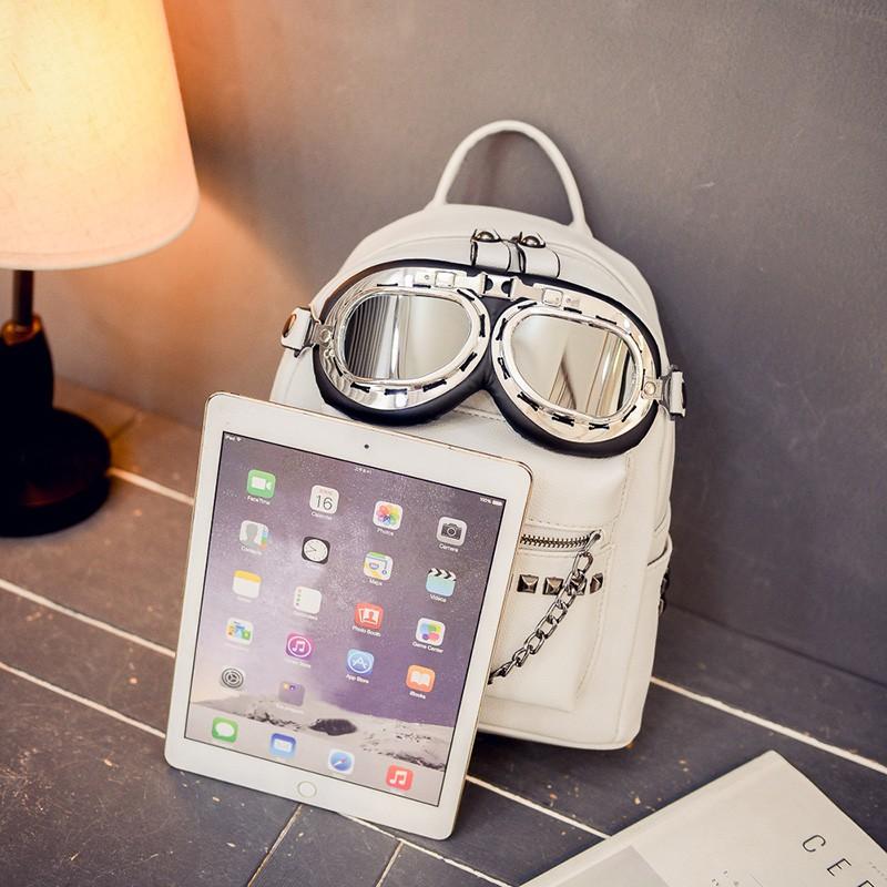 2016 cool sunglasses fashion women backpacks Korean rivet mini school bag backpack for youth lady College girls rucksack (37)
