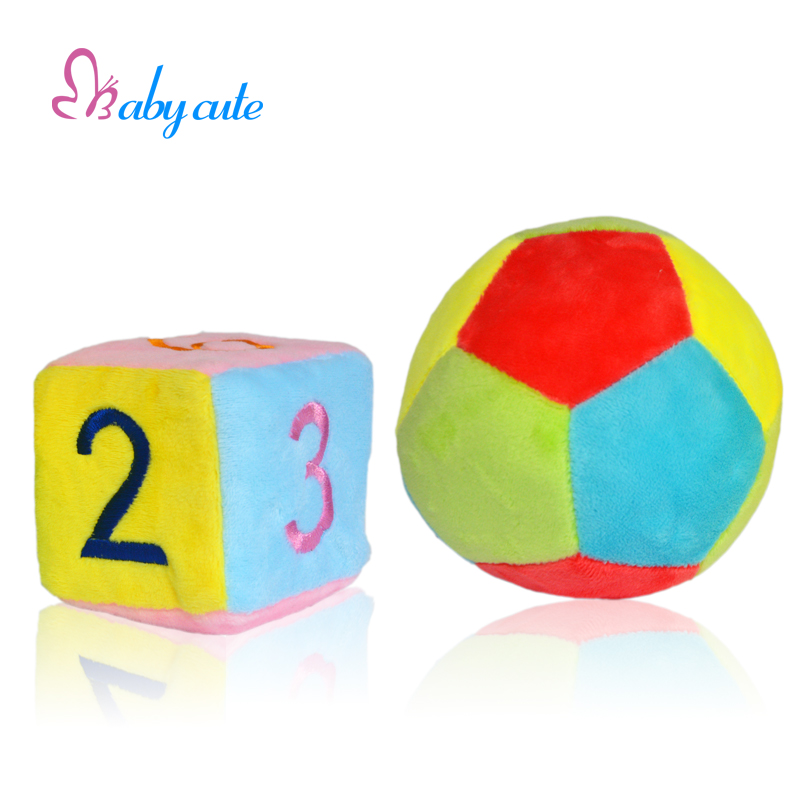 Baby Plush Rattles & Mobiles Toys Stroller Soft Infant Toys Bell Ring Cube Colorful Ball Jouet For 0-12 Months Kids Toys(China (Mainland))