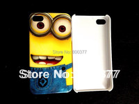 1Pcs Only, Hot Jean Style Despicable Me 2, Hard Back Skin Cover Case for iphone 4S Case , Little Minios, Best show, Cartoon Case