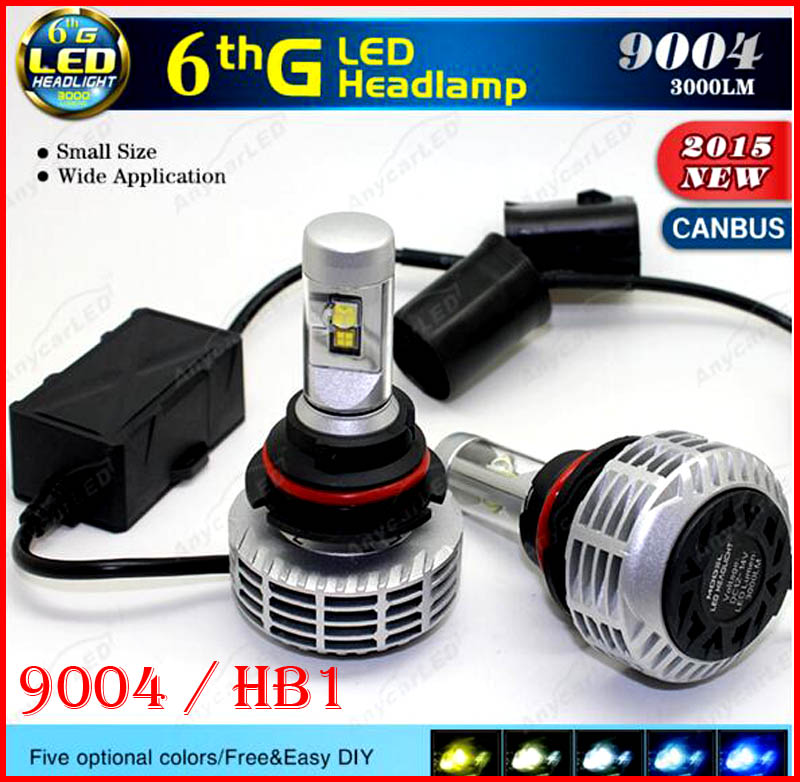 2016 Newest 1 Set 9004 HB1 80W 6000LM LED Headlight CANBUS No Error Flicker Conversion Kit High Low Beam LED Bulb Super Bright(China (Mainland))