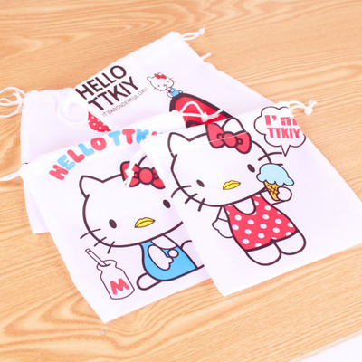 Wholesale hot selling fashion home nice good quality 2087 cat drawstring storage bag tote sorting bags non-woven 2016 new arriva(China (Mainland))