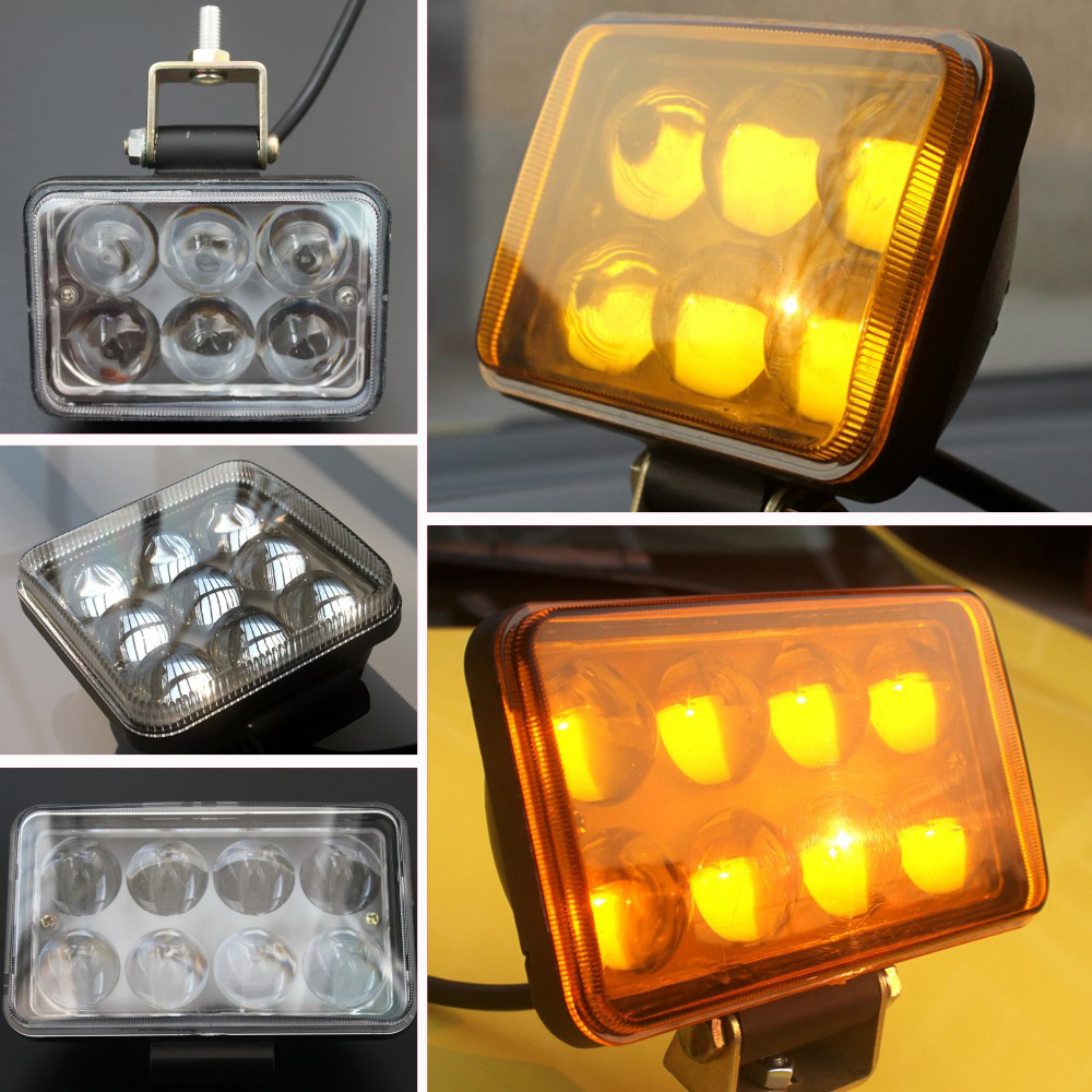 "3""-4"" 20W-45W 4D Lens Led Spotlights Car Motorcycle truck ATV SUV Headlights Fog lamp Tractor Trailer Heavy duty Led work lights(China (Mainland))"